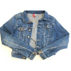 H&M Cropped Denim Jean Jacket